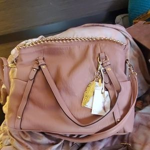 Jessica Simpson tote type  pink sand color